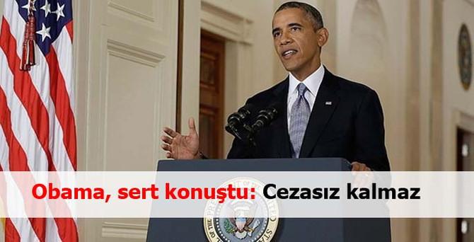 Obama'dan Rusya'ya sert sözler