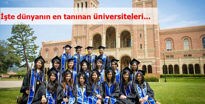 İşte dünyanın en tanınan üniversiteleri..