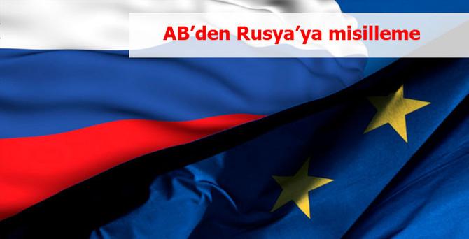 AB'den Rusya'ya misilleme
