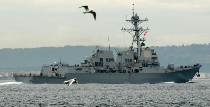 ABD savaş gemisi Çanakkale Boğazı'nda