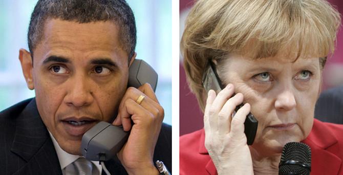 Obama Merkel'le Ukrayna'yı konuştu