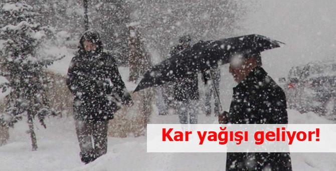 Kar yağışı geliyor!