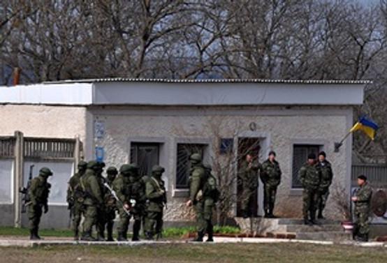Rus askerleri sınır karakolunda