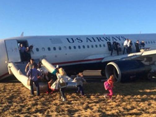ABD'de bir uçak acil iniş yaptı