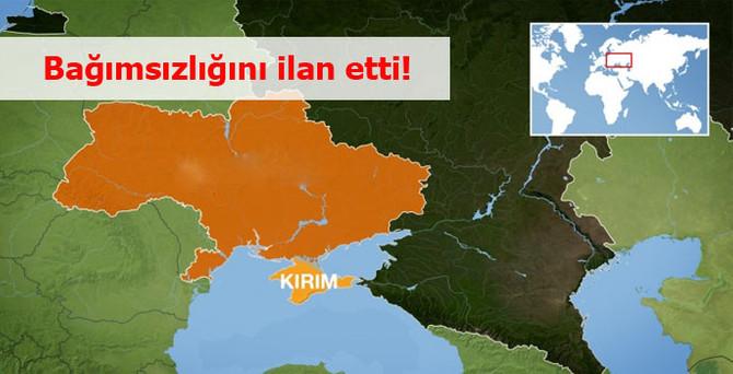 """""""Bağımsız Kırım Cumhuriyeti"""" ilan edildi"""