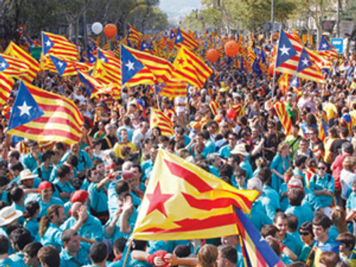 Katalanların bağımsızlık sesleri daha yüksek çıkıyor