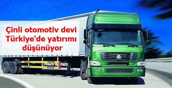 Çinli otomotiv devi Türkiye'de yatırımı düşünüyor