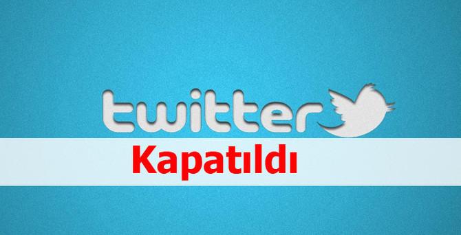 Twitter kapandı!