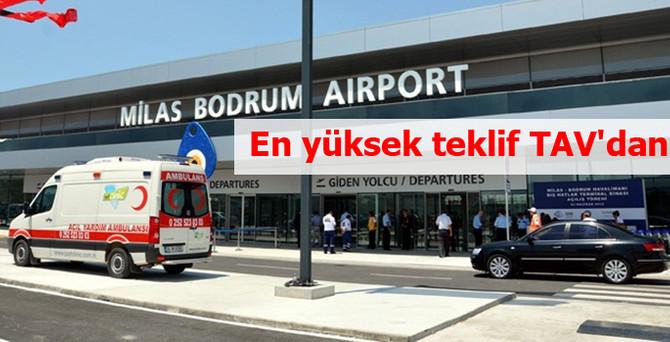 Milas-Bodrum'a en yüksek teklif TAV'dan