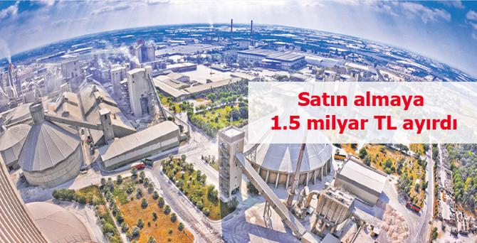 Sabancı Çimento Grubu satın almaya 1.5 milyar TL ayırdı