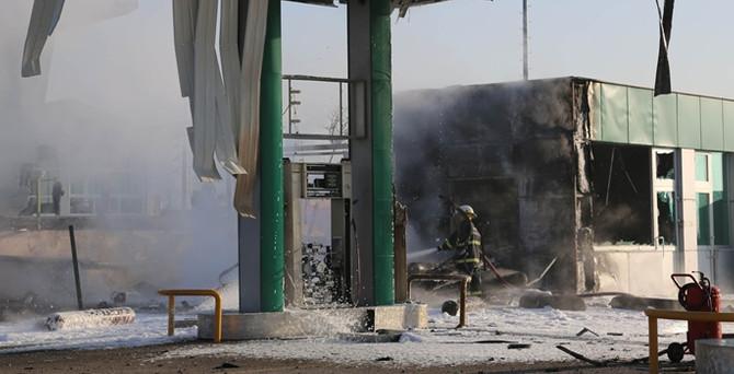 CNG dolum istasyonunda patlama