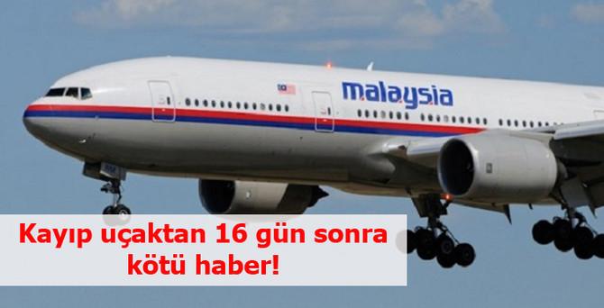 Kayıp uçaktan 16 gün sonra kötü haber!