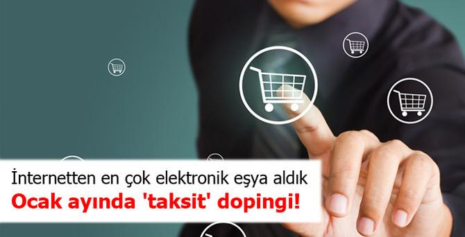 İnternetten alışverişe ocakta 'taksit' dopingi