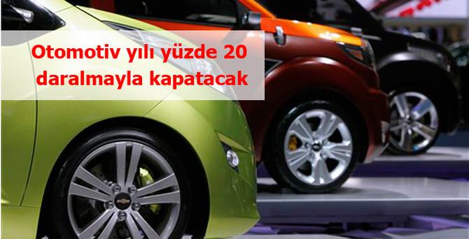 Otomotiv sektörü yılı yüzde 20 daralmayla kapatacak