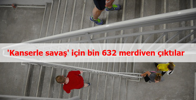 'Kanserle savaş' için bin 632 merdiven çıktılar