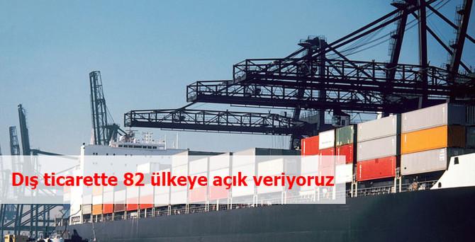 Dış ticarette 82 ülkeye açık veriyoruz