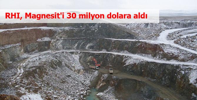 RHI, Magnesit'i 30 milyon dolara aldı