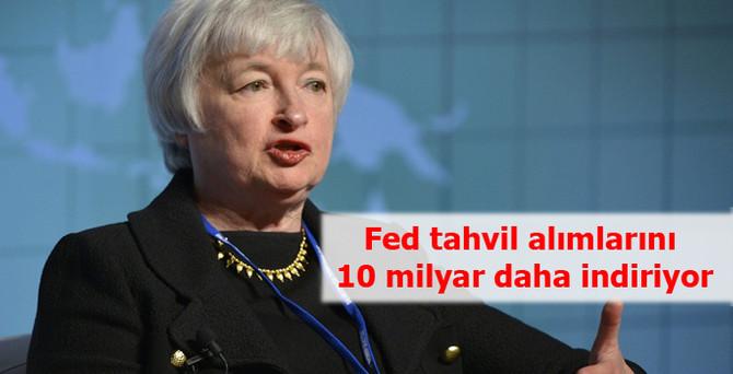 Fed tahvil alımlarını 10 milyar daha indiriyor
