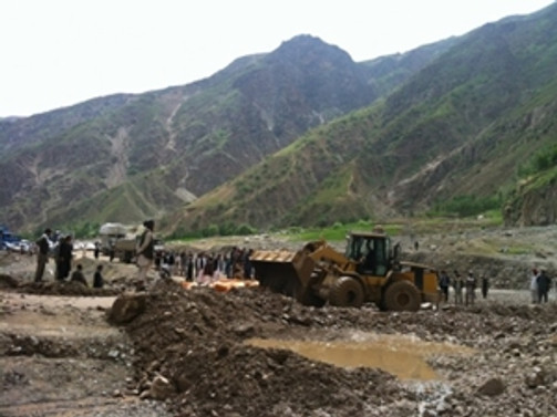 Gürcistan'da toprak kayması