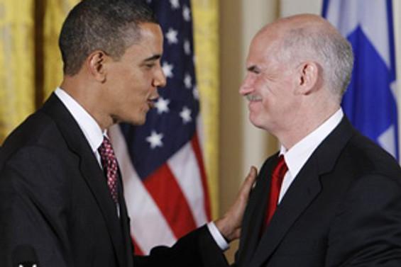 Papandreu, Obama ile görüştü