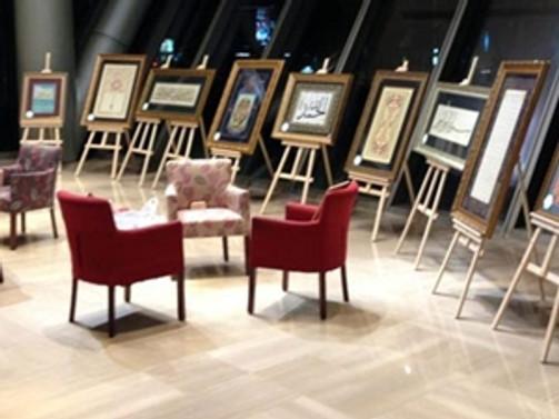 """""""Sanat İyilik İçin"""" klasik Türk sanatları sergisi açıldı"""