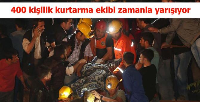 400 kişilik kurtarma ekibi zamanla yarıştı