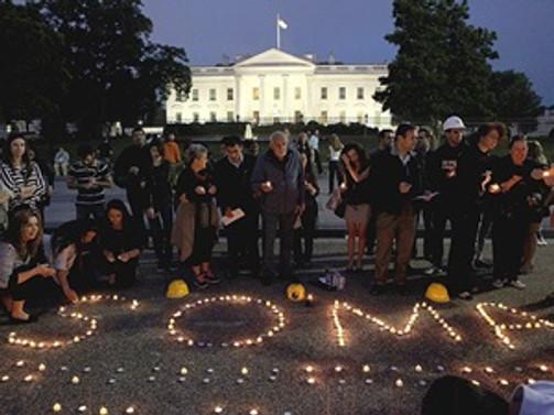 Beyaz Saray önünde 'Soma' anması