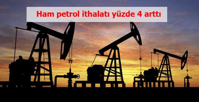Ham petrol ithalatı ilk çeyrekte arttı