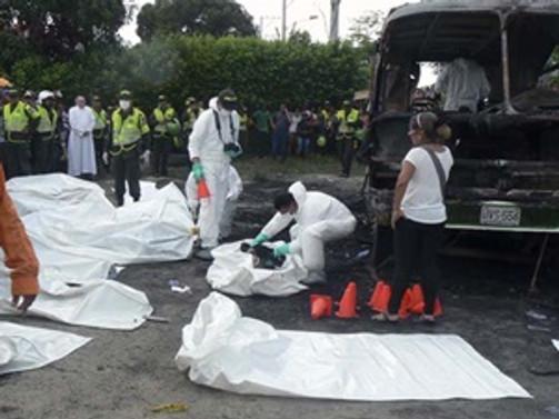Kolombiya'da yanan otobüste 31 çocuk öldü