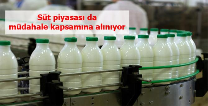 Süt piyasası da müdahale kapsamına alınıyor