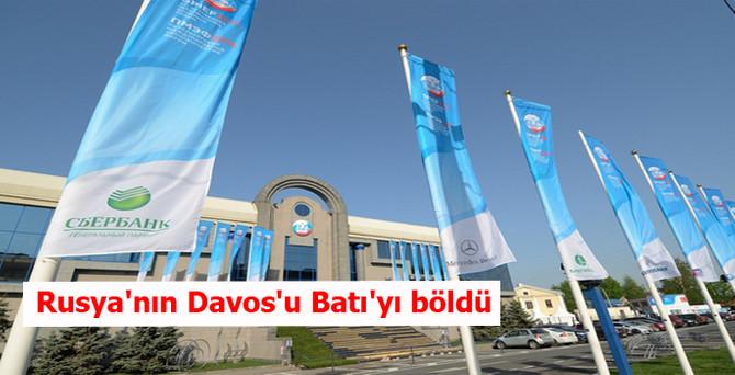 Rusya'nın Davos'u Batı'yı böldü