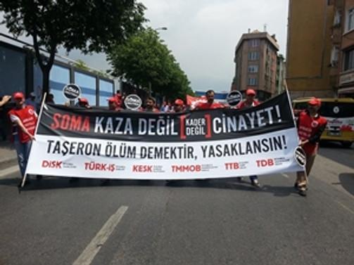 İstanbul'da 'taşeron' protestosu