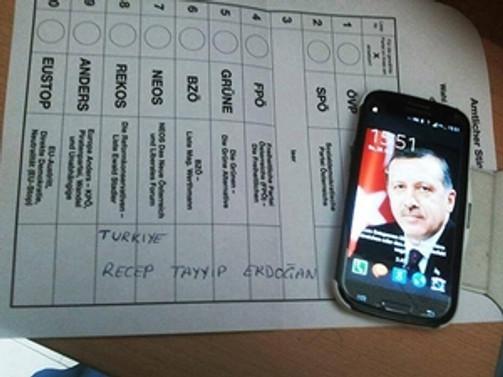 AP seçimlerinde Erdoğan'a oy çıktı
