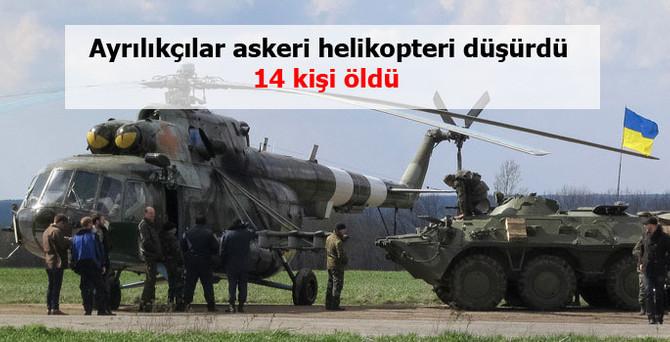 Ayrılıkçılar askeri helikopteri düşürdü, 14 kişi öldü