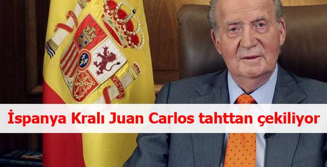 İspanya Kralı Juan Carlos tahttan çekiliyor