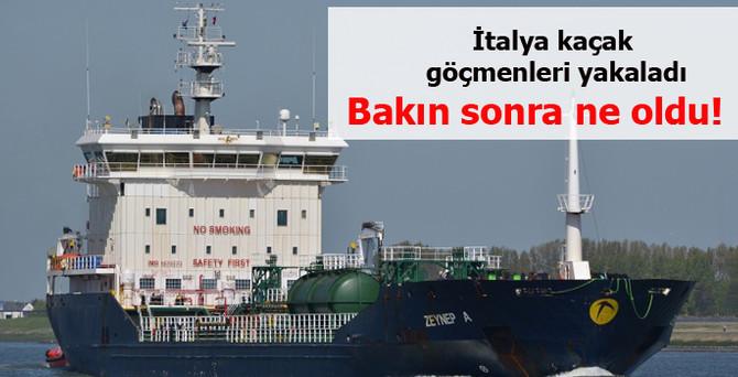 96 göçmeni Türk gemisine emanet ettiler