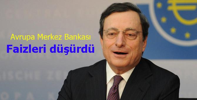ECB, faizleri düşürdü