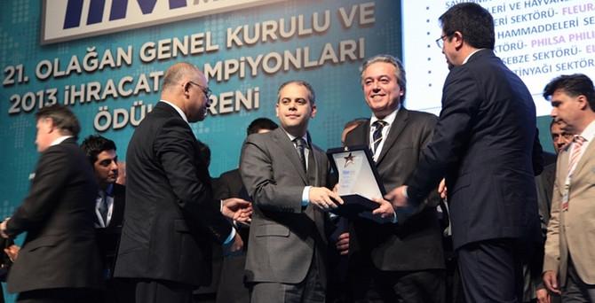 Su Ürünleri ve Hayvansal Mamuller Sektörü'nde ilk üç firma ödüllendirildi