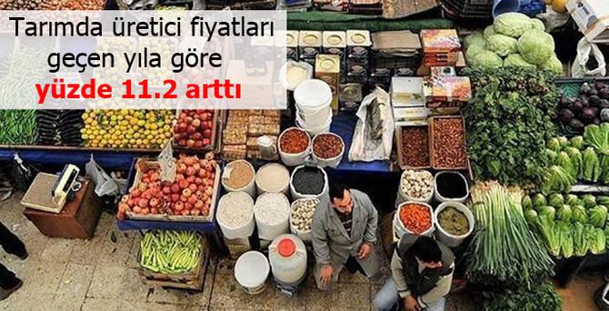Tarımda üretici fiyatları yüzde 11.2 arttı