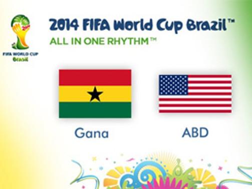 Gana: 1 -  ABD: 2