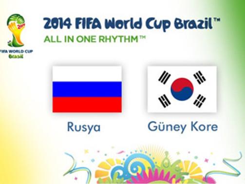 Rusya ile Güney Kore berabere kaldı