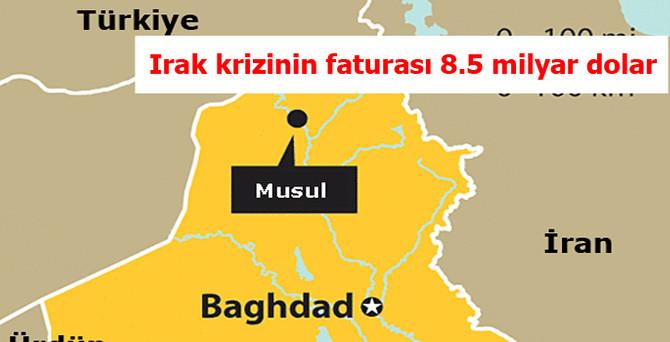 Irak'taki krizin Türkiye'ye faturası 8.5 milyar dolar