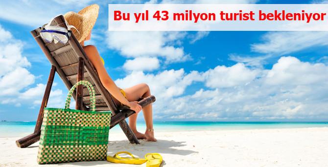 Yıl sonunda 43 milyon turist gelmesi bekleniyor