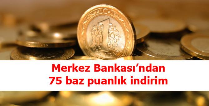 MB, politika faizini yüzde 8.75'e çekti