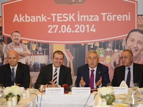 Akbank ve TESK 1.6 milyon esnaf  için güçlerini birleştirdi