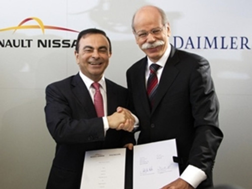 Renault-Nissan ile Daimler ortaklığa soyundu