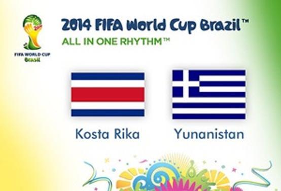 Kosta Rika, ilk kez çeyrek finalde