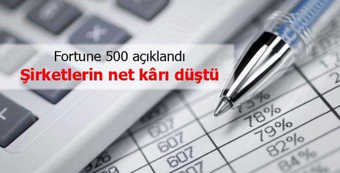 Fortune 500'deki şirketlerin net kârı yüzde 13 düştü