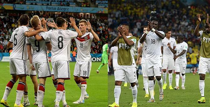 Fransa ile Almanya yarı final için kapışacak