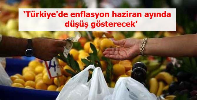 'Türkiye'de enflasyon haziran ayında düşüş gösterecek'